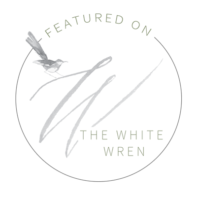 White Wren Feature Badge Wedding Publication