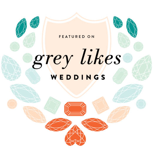 Grey Likes Weddings Feature Badge Wedding Publication