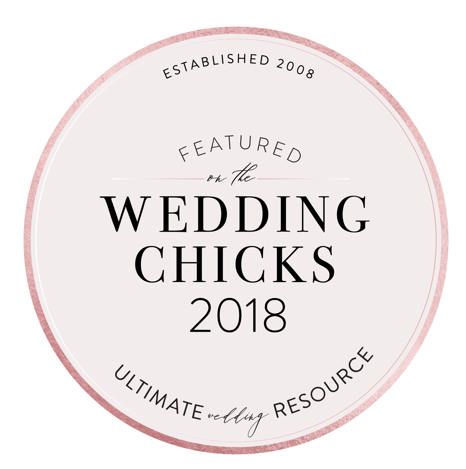The Wedding Chicks Feature Badge Publication
