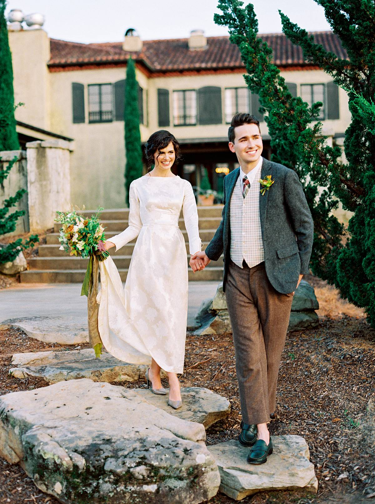 northern michigan elopement photography of bride and groom in vintage wedding clothes by flm wedding photographer brian d smith photography