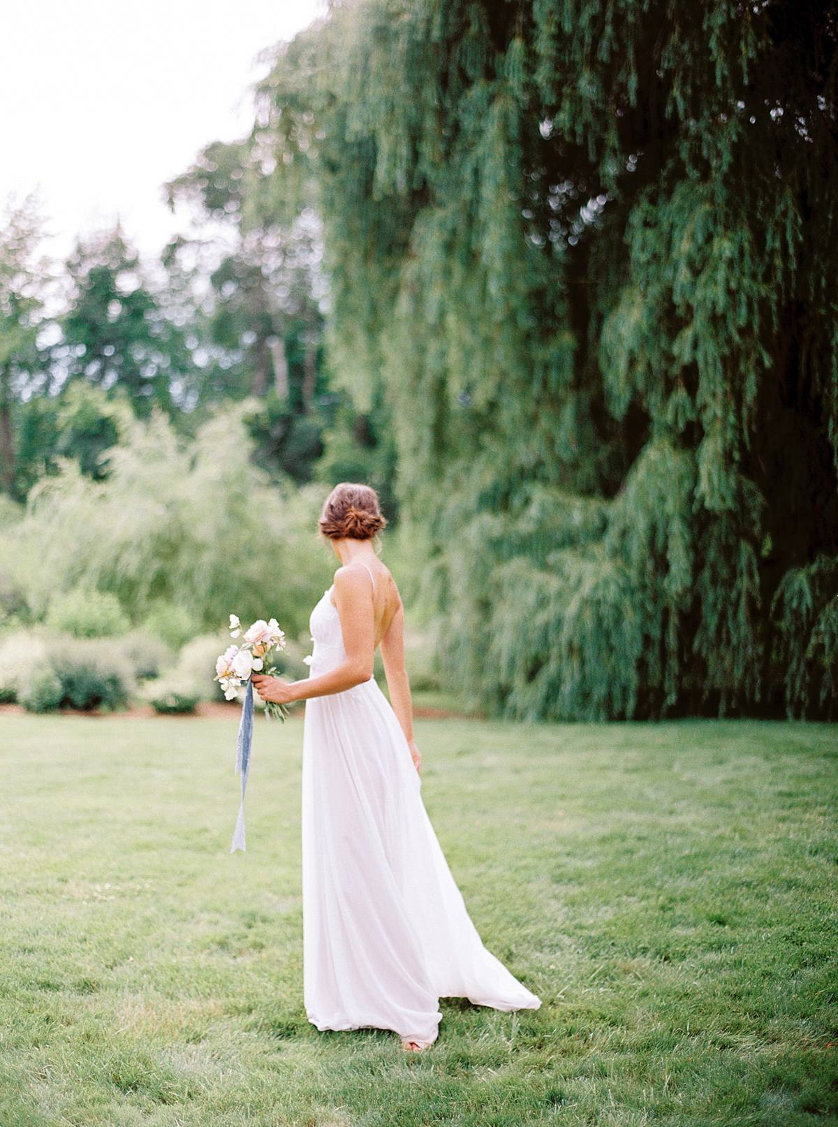shallow depth of field bridal portrait on kodak film with contax 645 by brian d smith
