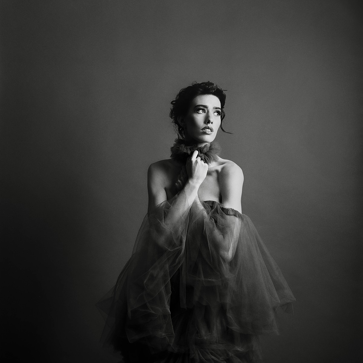 charleston sc studio sixty reid fashion black and white film editorial image on hasselblad and kodak tri-x 120