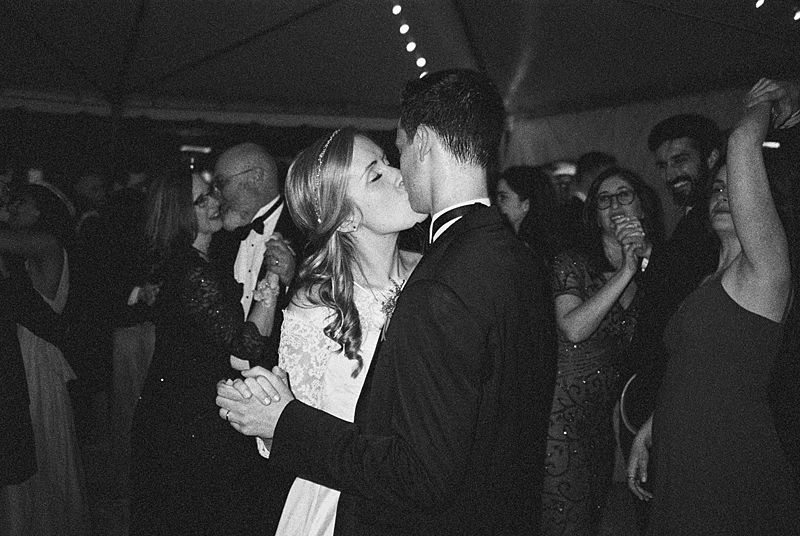 point and shoot film camera image on kodak p3200 at william aiken house wedding