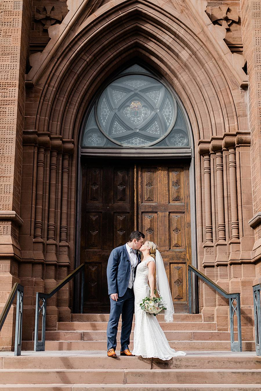 saint john the baptist cathedral charleston church wedding portrait