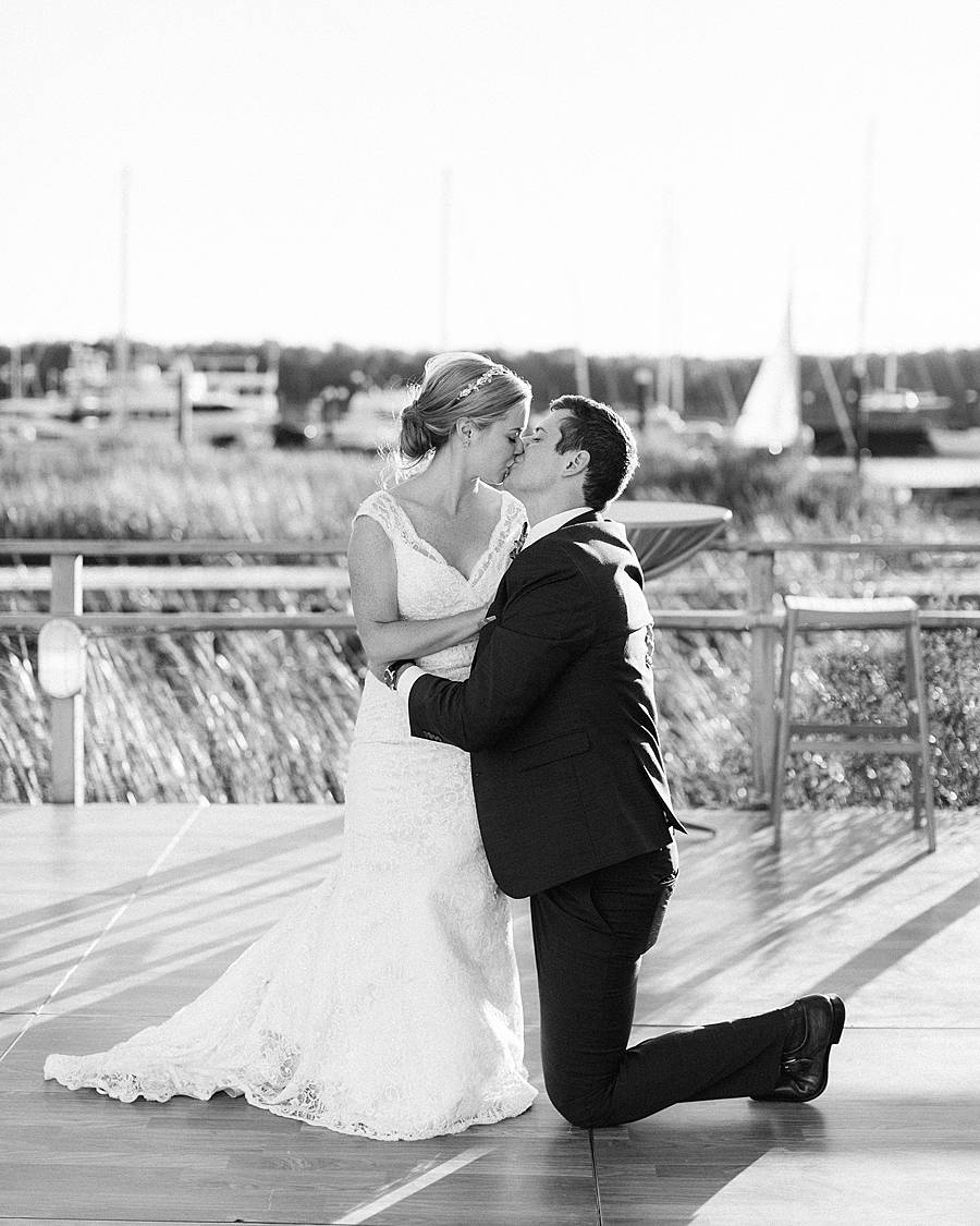charleston yacht club wedding first dance sunset october