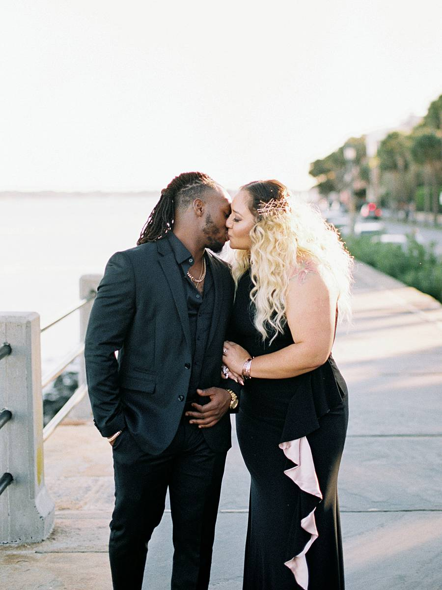 charleston engagement african american battery bay street 35mm film kodak portra 400 canon eos 1v