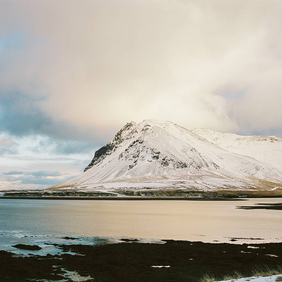 iceland mountain on kodak portra 400 film pushed 1 stop with fuji gf670 portable medium format film camera